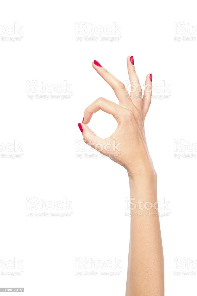 OK hand sign royalty-free stock photo