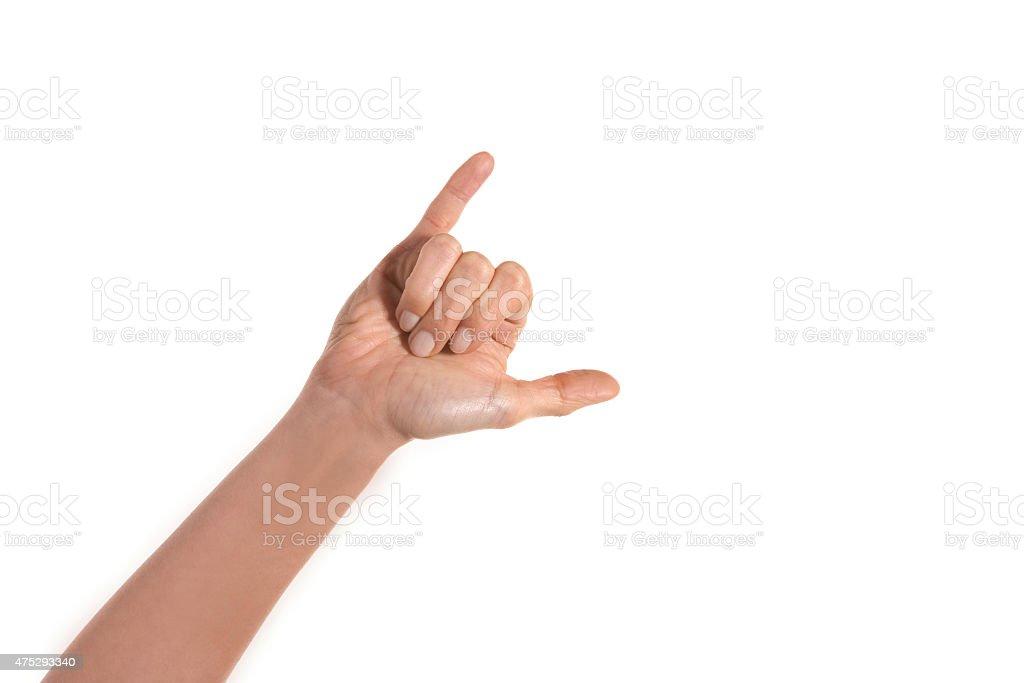 Hand sign stock photo