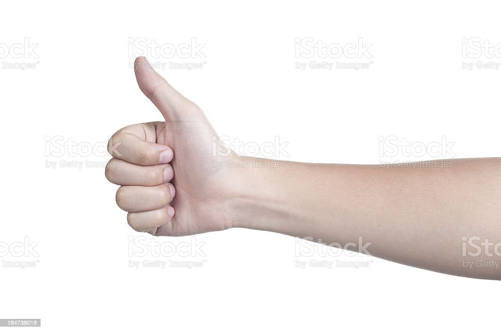 hand sign posture good isolated royalty-free stock photo