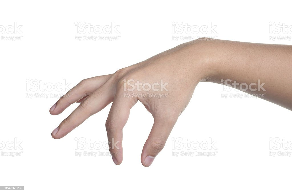 hand sign posture pick hold isolated royalty-free stock photo