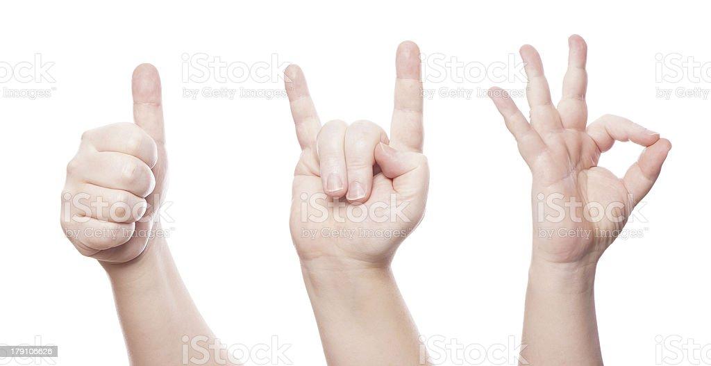hand sign set royalty-free stock photo