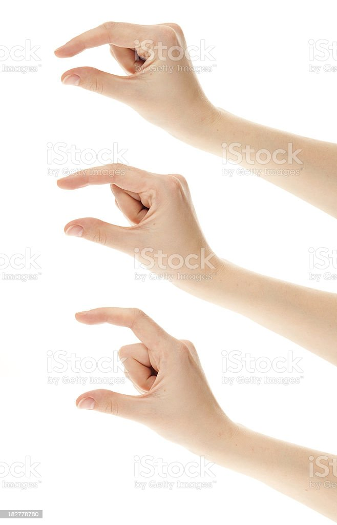 Hand Sign - Small middle big stock photo