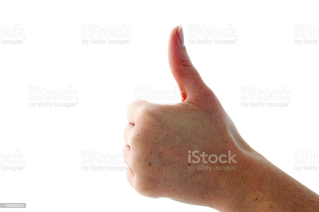 Hand Signal - Thumbs up royalty-free stock photo