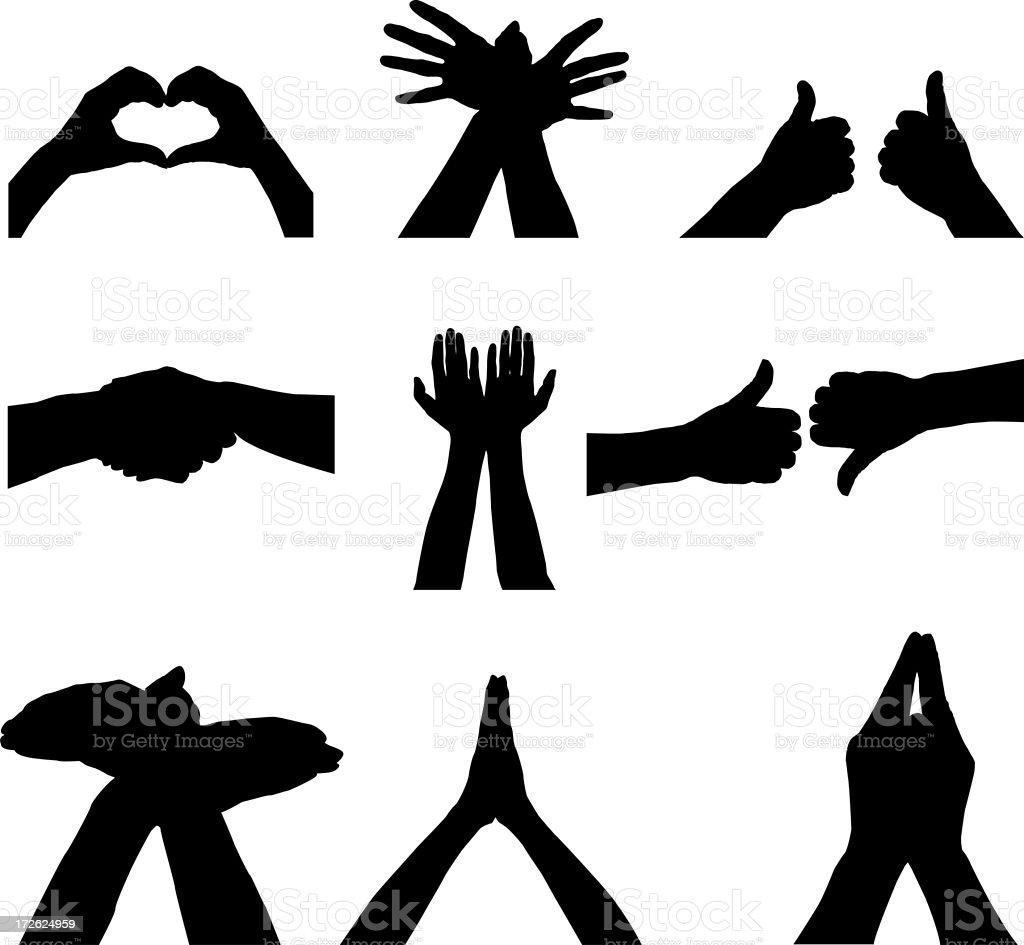Hand signals royalty-free stock photo