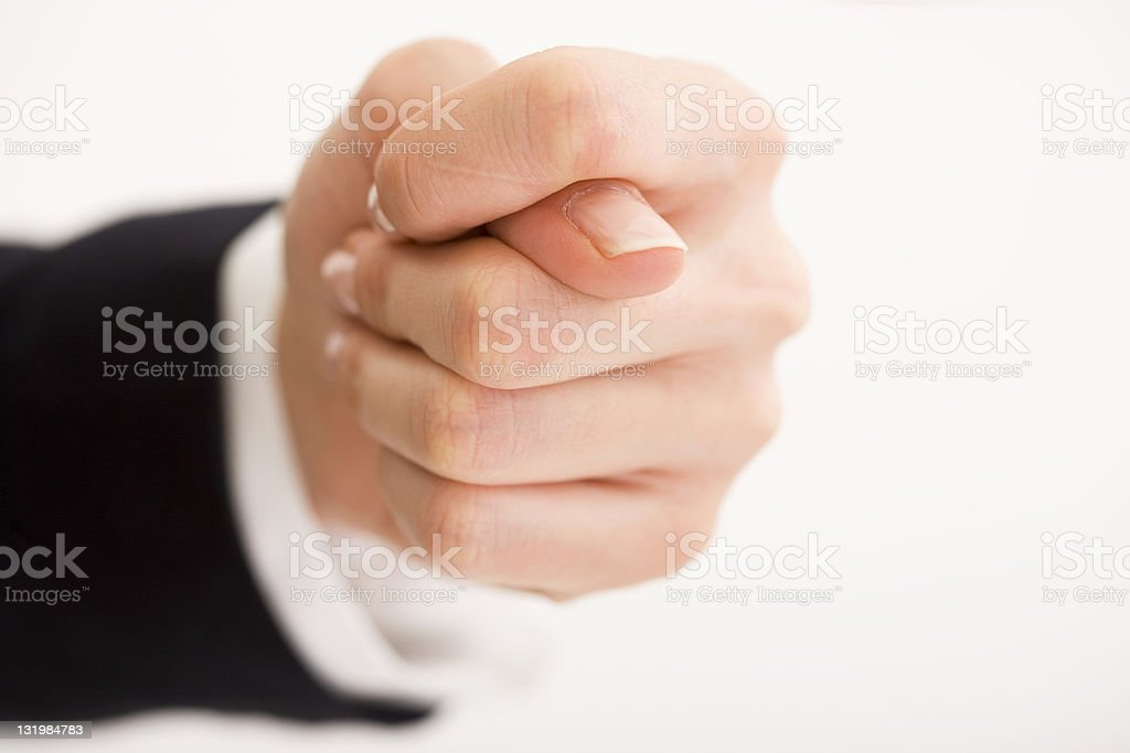 Hand signing royalty-free stock photo