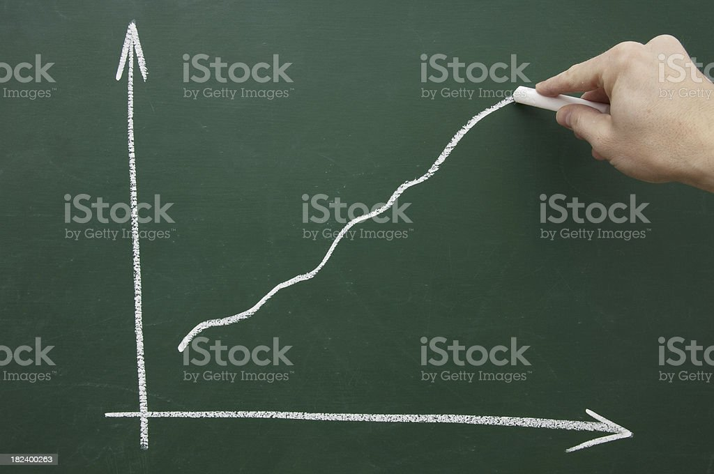 hand sketching a chart royalty-free stock photo