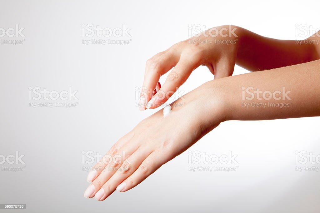 Hand skin care stock photo
