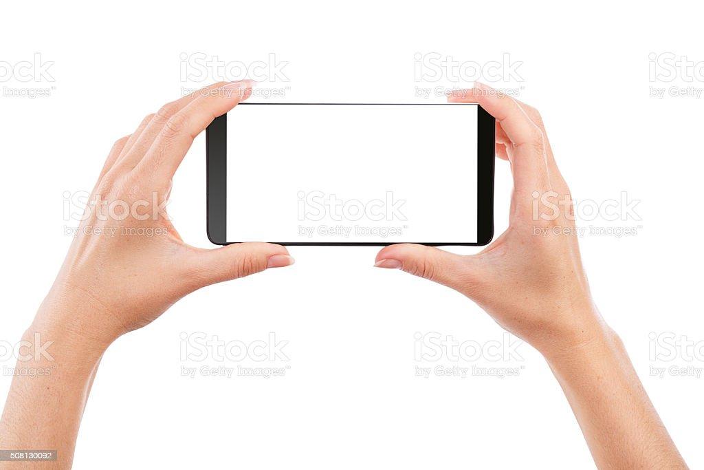 hand smartphone stock photo