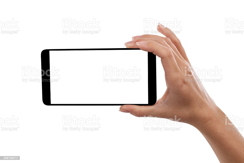 hand smartphone stock photo