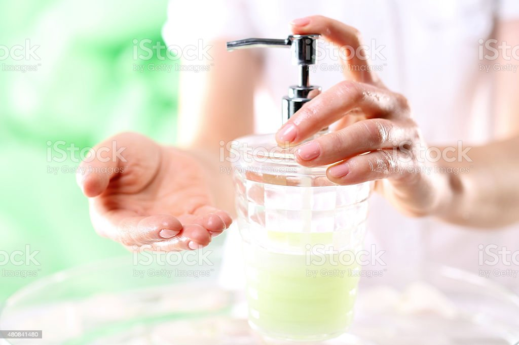 hand soap stock photo