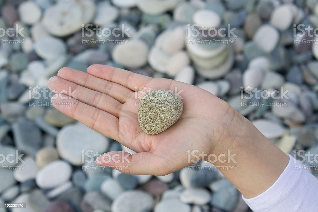 hand,  stone royalty-free stock photo