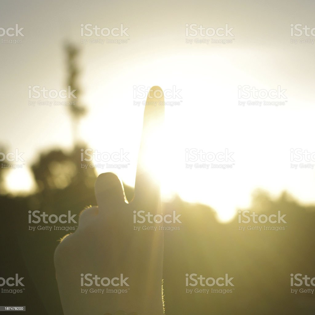 Hand sun royalty-free stock photo