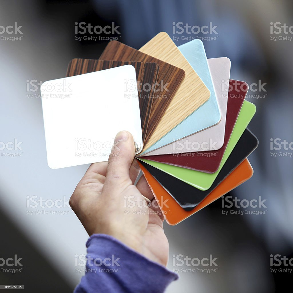 hand & swatches xl royalty-free stock photo