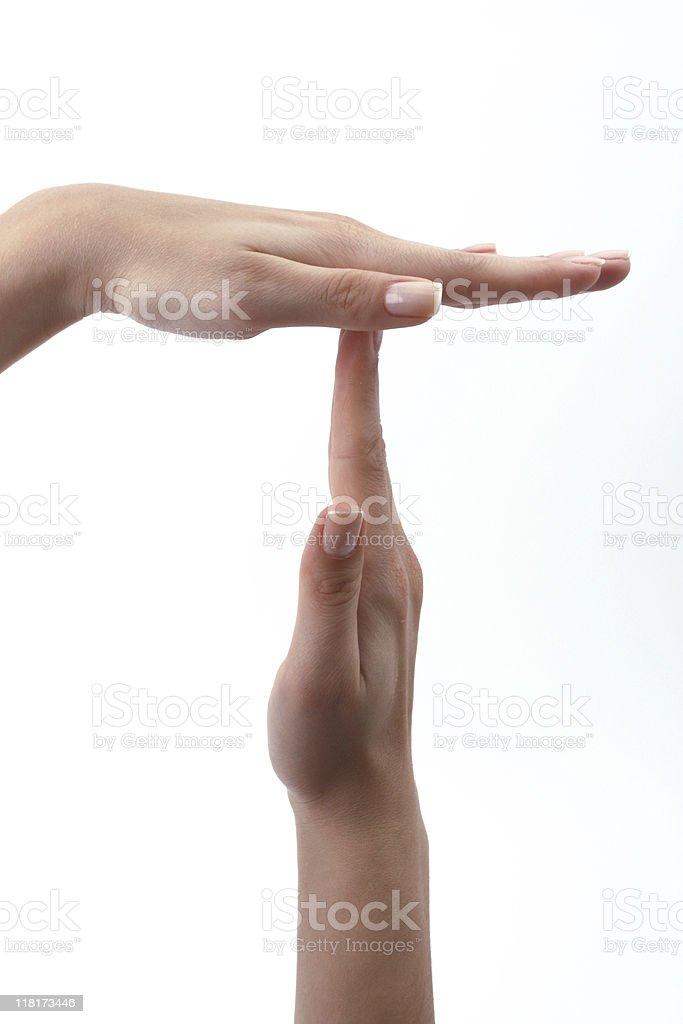 hand symbol of break stock photo
