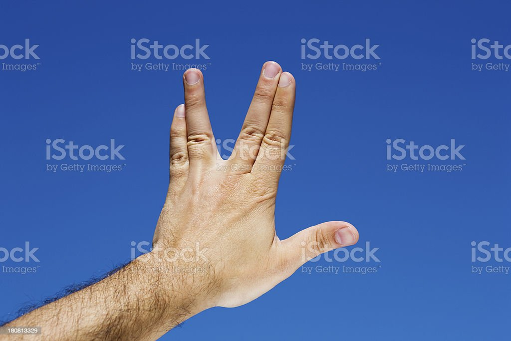 hand symbol star trek stock photo