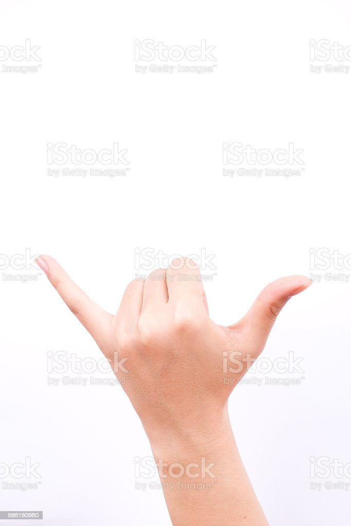 hand symbols hand making a call phone me gesture sign stock photo