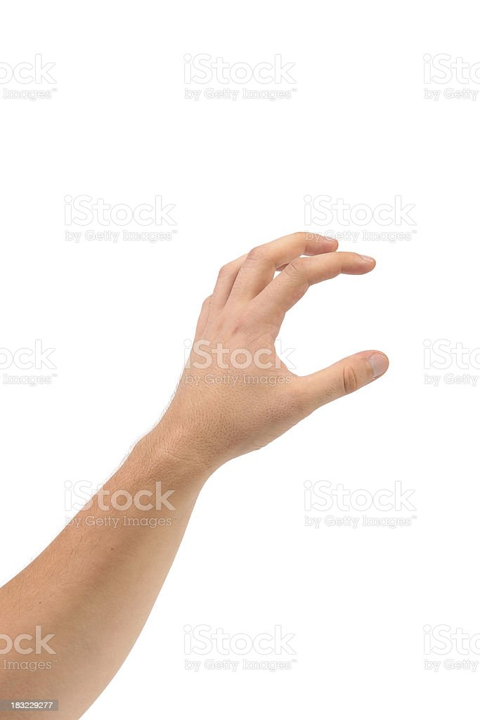 Hand that can hold something. stock photo