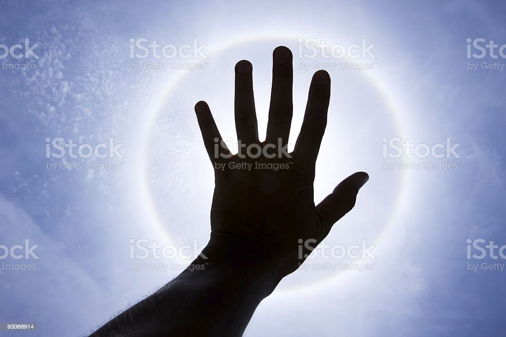 hand that shadow from Halo stock photo