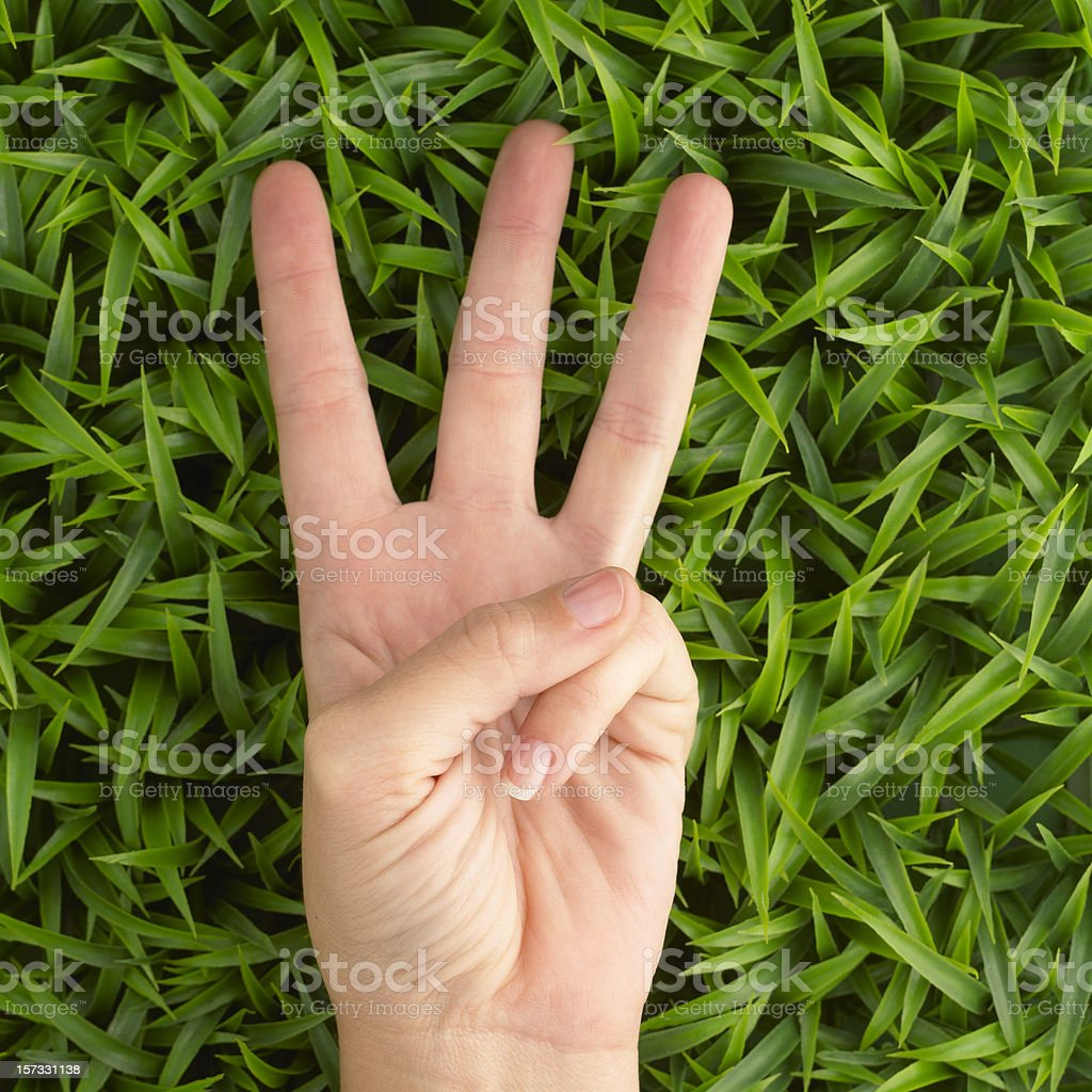 Hand three stock photo