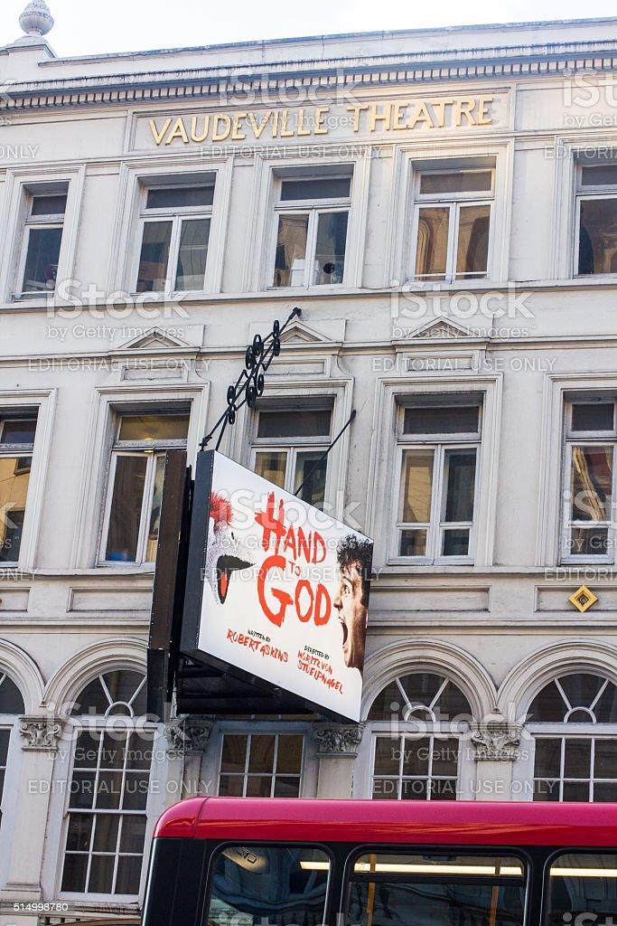 Hand to God at Vaudeville Theatre, London stock photo