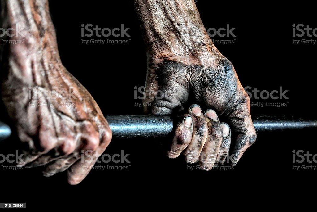 Hand to Work stock photo