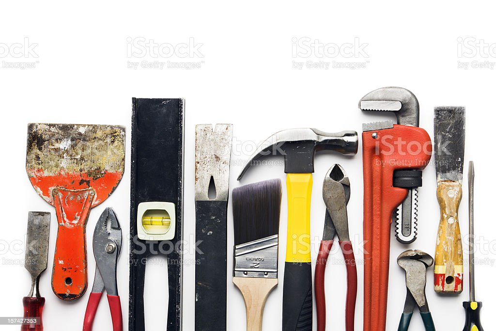 Hand Tool Border stock photo