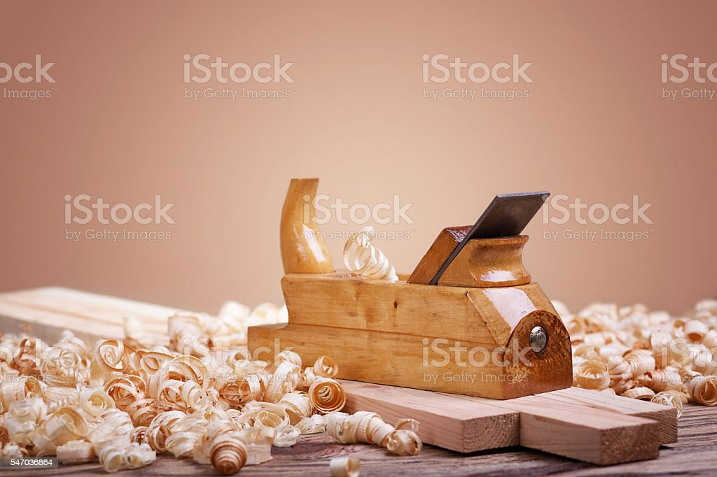Hand tools for woodworking stock photo