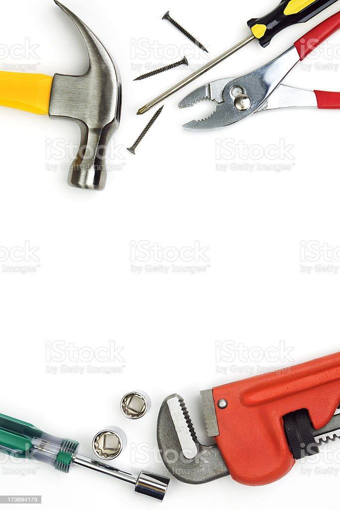 Hand Tools Frame Vt royalty-free stock photo