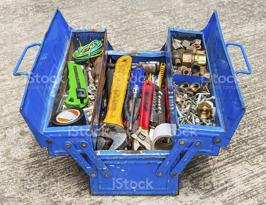 Hand Tools in box royalty-free stock photo