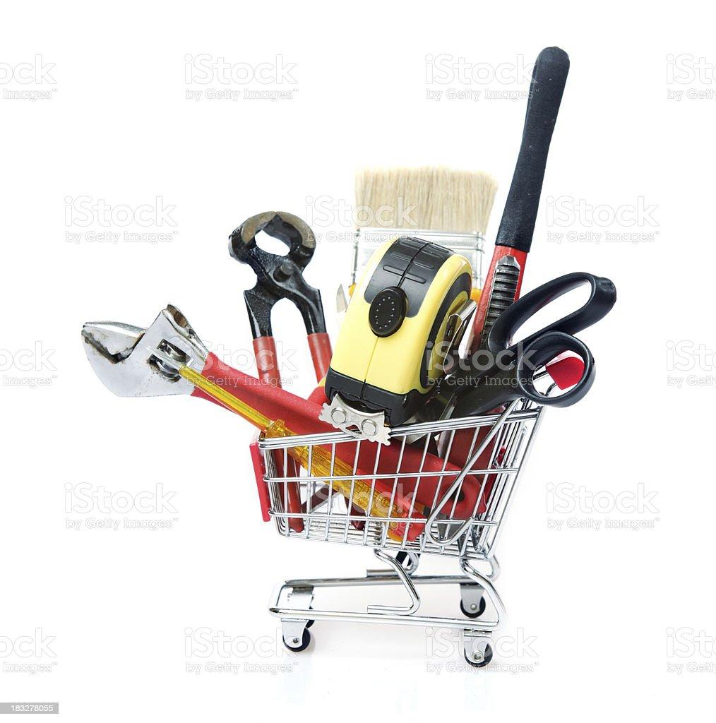 Hand tools Shopping royalty-free stock photo