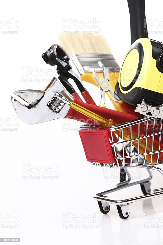 Hand tools Shopping royalty-free stock photo