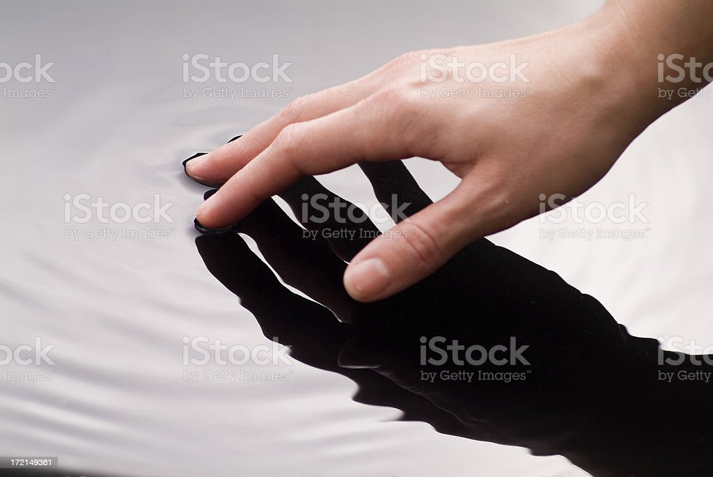 Hand Touching Water series royalty-free stock photo