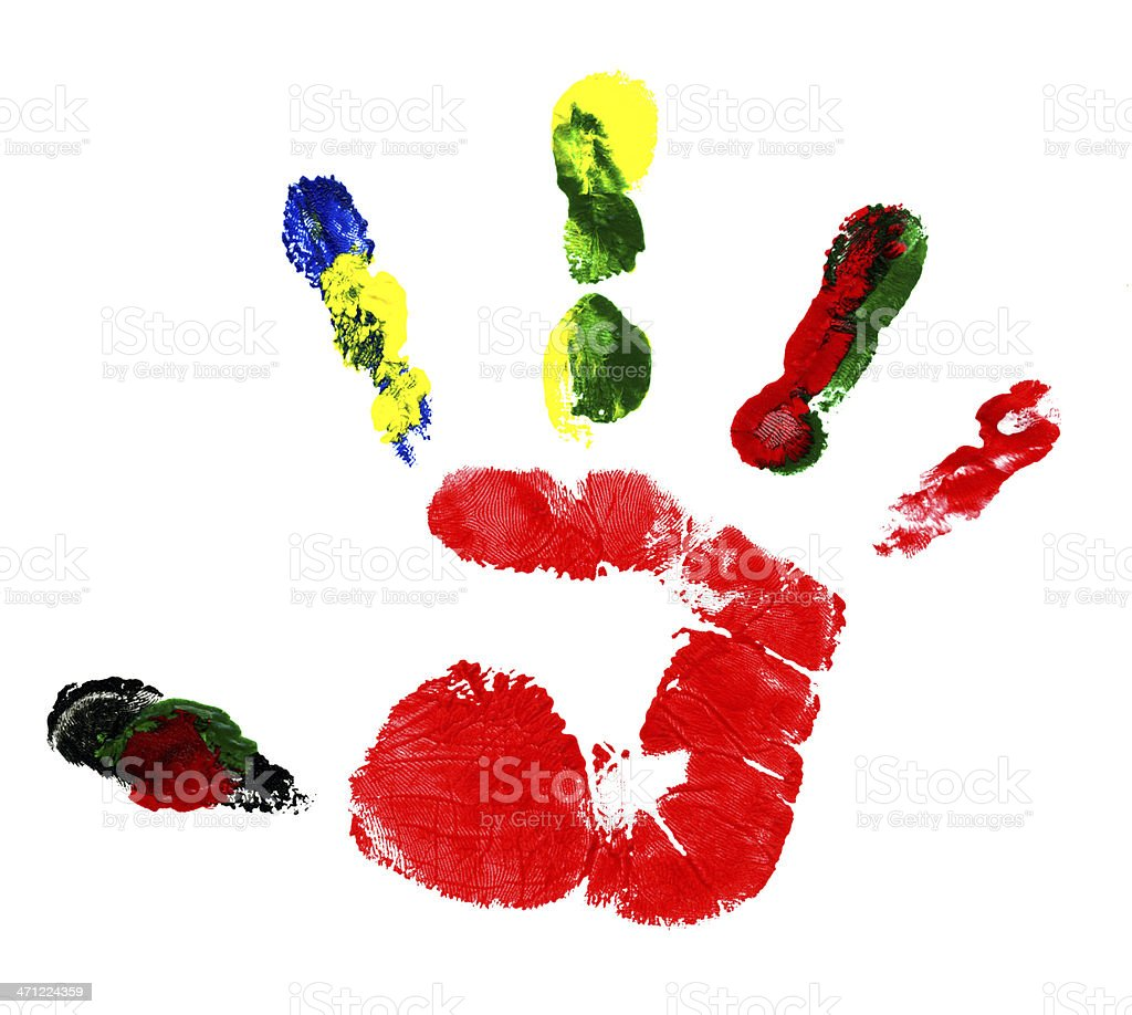 Hand Track stock photo