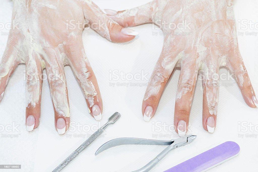 Hand treatment royalty-free stock photo