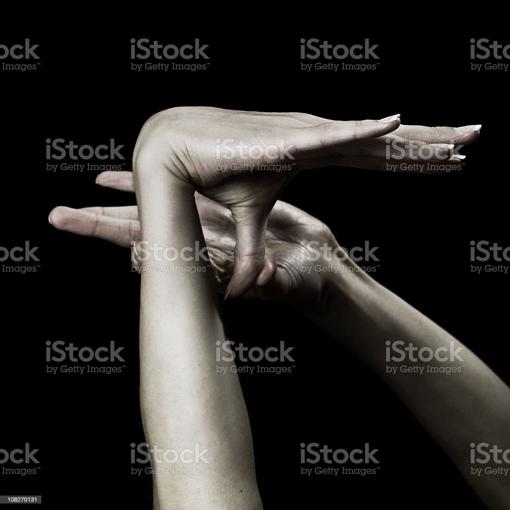 hand trick royalty-free stock photo
