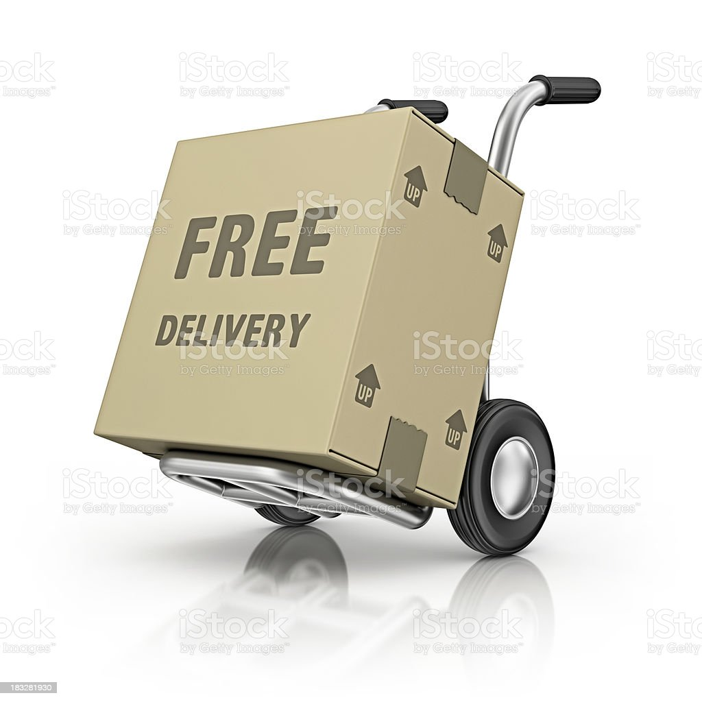 hand truck and carton boxes stock photo