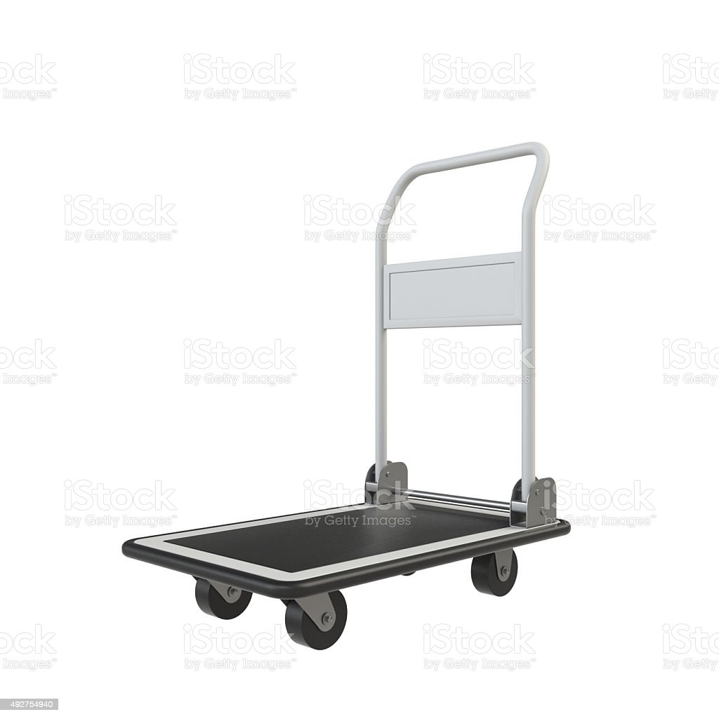 Hand truck not on luggage stock photo