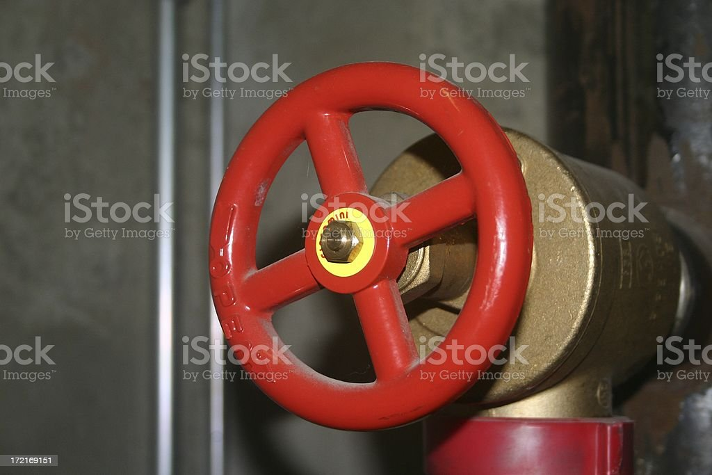 Hand valve royalty-free stock photo
