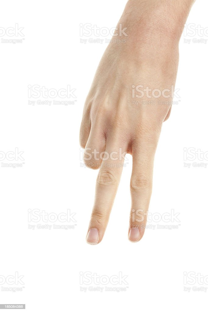Hand walking with fingers stock photo