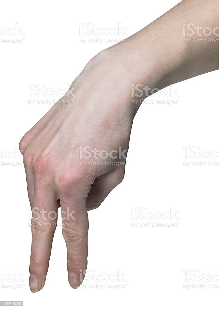hand walking with fingers royalty-free stock photo