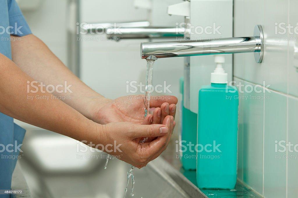 Hand wash stock photo