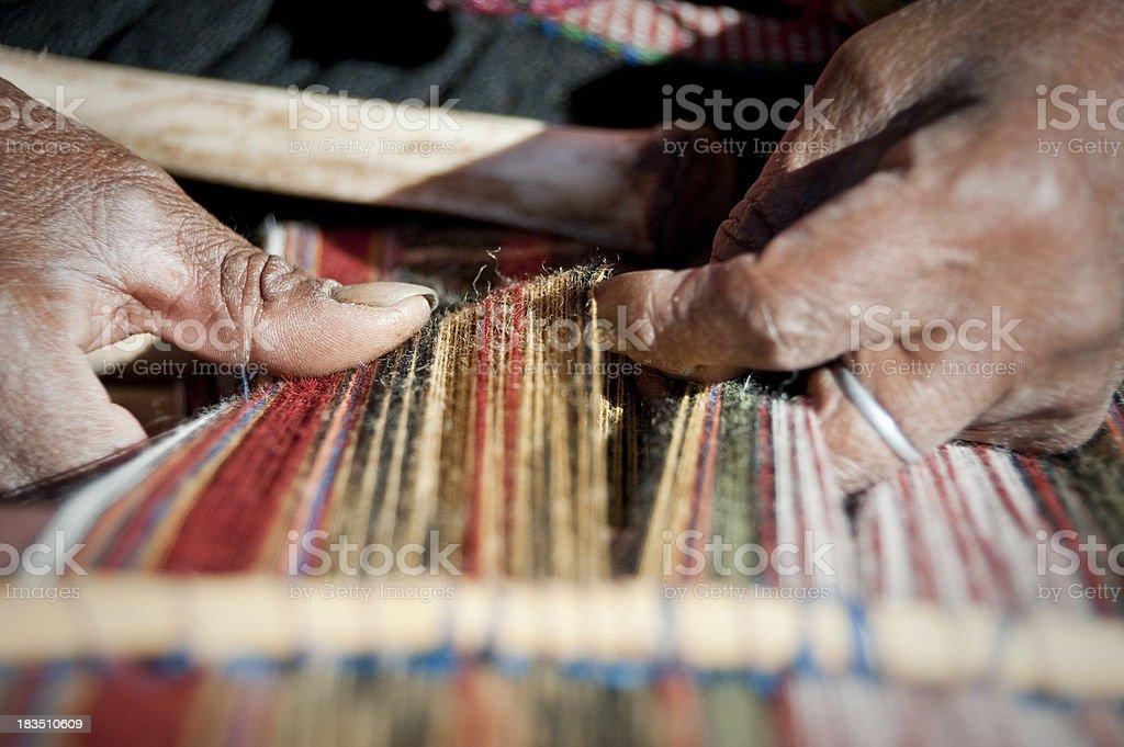 Hand weaving stock photo