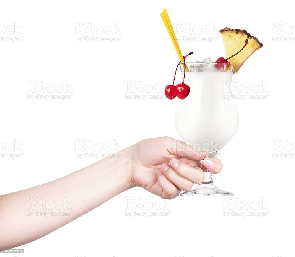 hand with alcohol cocktail making toast royalty-free stock photo