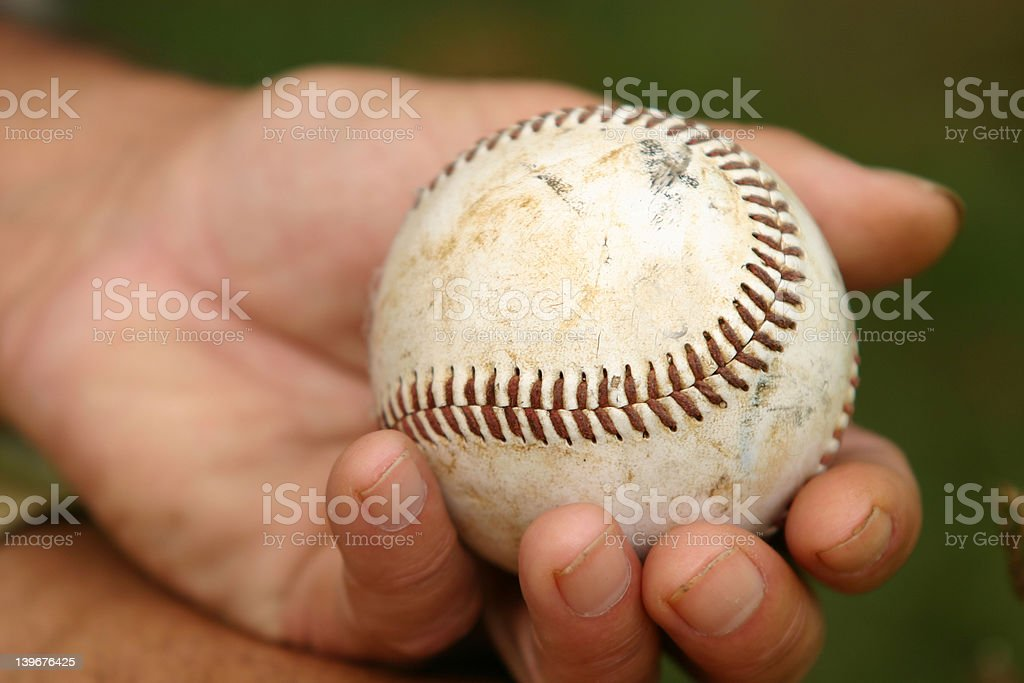 Hand with ball stock photo