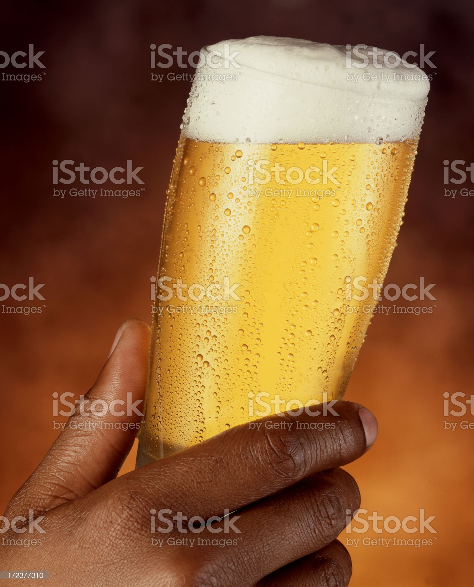 Hand with Beer royalty-free stock photo