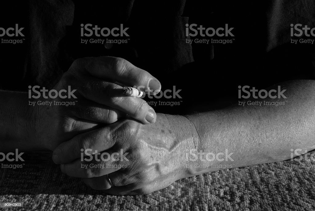 Hand with Cigarette royalty-free stock photo
