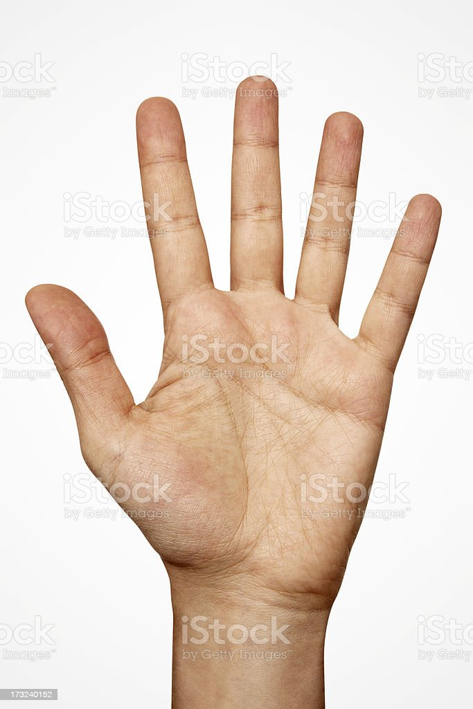 Hand With Clipping Path stock photo