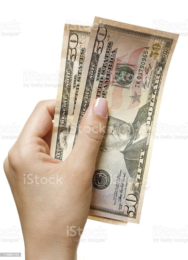 Hand with dollars royalty-free stock photo