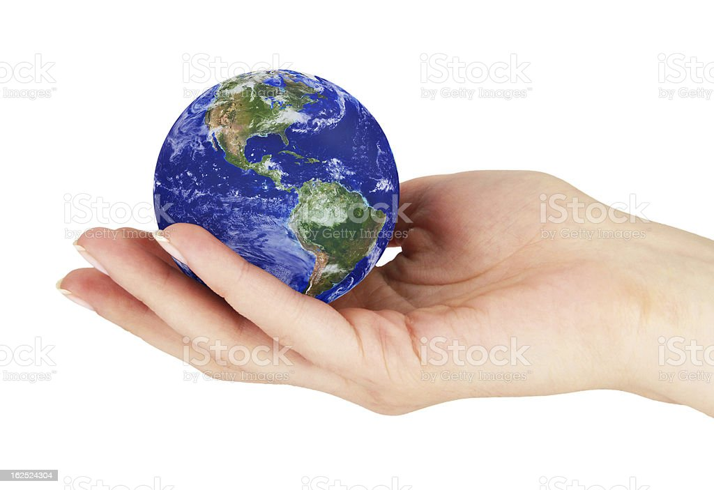 Hand with earth 1 royalty-free stock photo