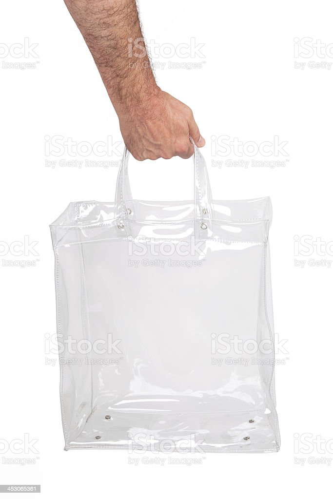Hand With Empty Plastic Bag royalty-free stock photo